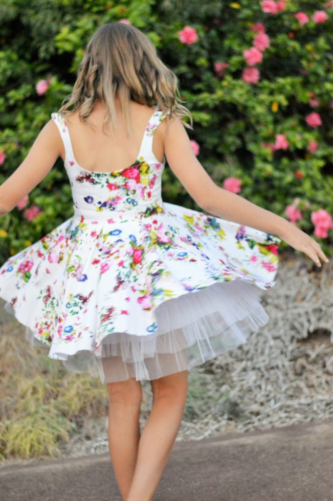 Floral Dress Twirling