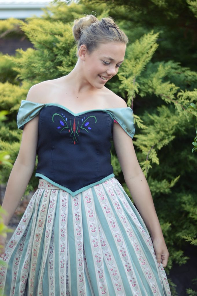 Princess Anna coronation dress inspired by Frozen