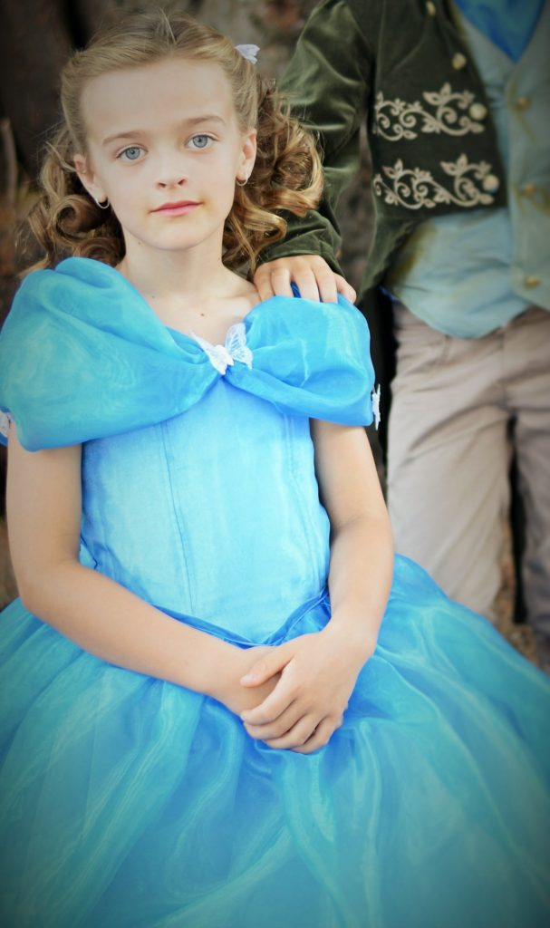 Cinderella 2015 costume blue dress