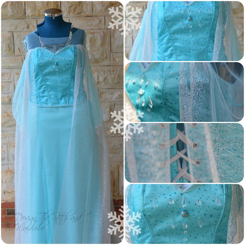 Corset / Gown inspired by Queen Elsa's Frozen Dress Costume / /Cosplay