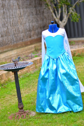 Custom made Frozen /  Queen Elsa inspired ballgown style dress /costume