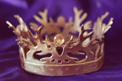 Game Of Thrones Joffrey / Tommen Stag Crown - hand carved leather