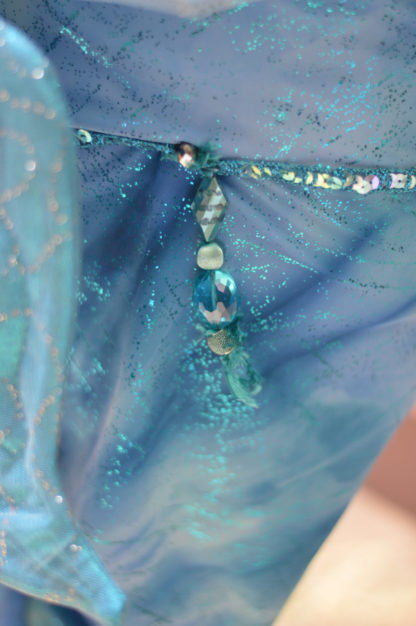 Mermaid costume - Tail skirt , halter top, headpiece and shell necklace - can be done as Ariel