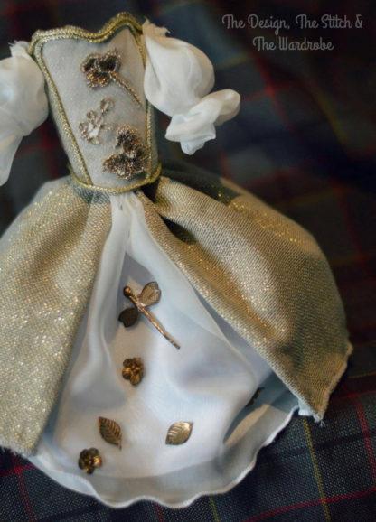 Outlander Wedding dress miniature , Claire wedding dress miniature.