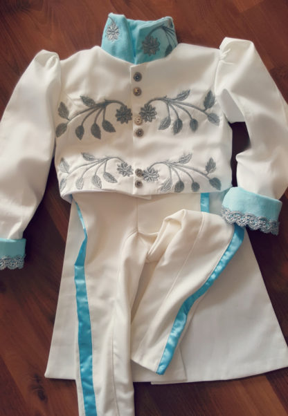 Prince Charming, Live Action Cinderella Ball costume,  Embroidered Prince Jacket